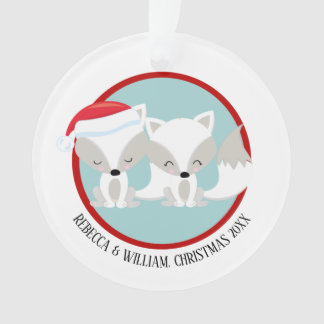 Personalisiertes Foto Weihnachtsarktisches Fox Ornament