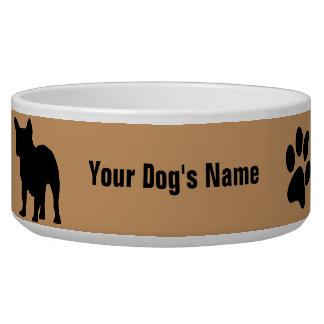 Personalisiertes französische Bulldogge フレンチ ・ Hundenapf