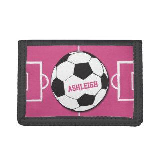 Personalisiertes Fußball-Ball-und Feld-Rosa