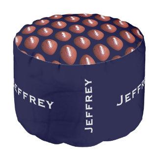 Personalisiertes Fußball-Puff-Kissen-Sitzblau Runder Sitzpuff