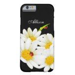 Personalisiertes Gänseblümchen und Marienkäfer Barely There iPhone 6 Hülle