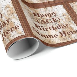 Personalisiertes Geburtstags-Verpackungs-Papier Geschenkpapier