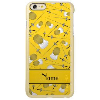 Personalisiertes gelbes fechtendes Namensmuster