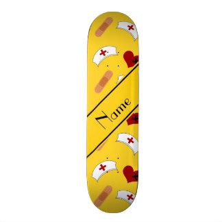 Personalisiertes gelbes skateboardbretter