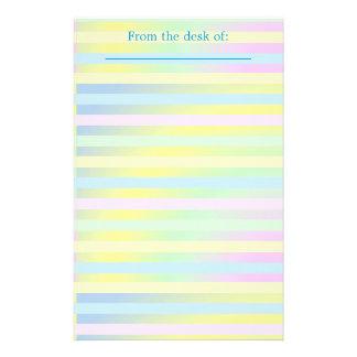 Personalisiertes gestreiftes Pastellbriefpapier Briefpapier