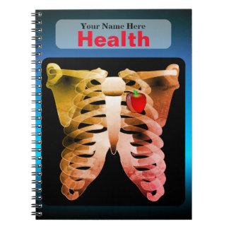 Personalisiertes Gesundheits-Notizbuch Notizblock