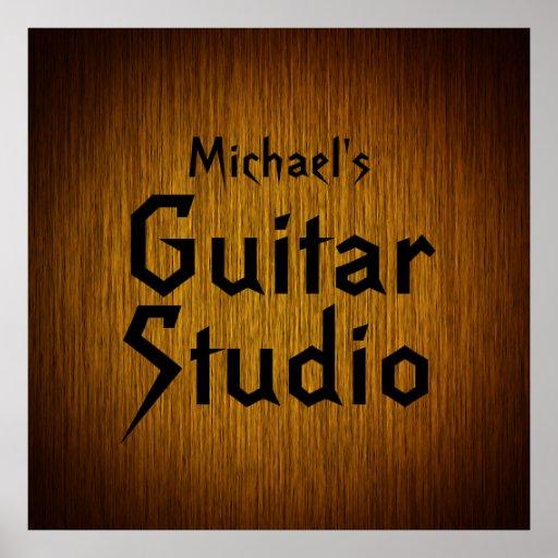 Personalisiertes Gitarren-Studio-Plakat auf
