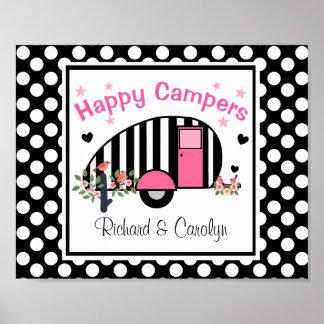 Personalisiertes glückliche Lagerbewohner-Plakat Poster