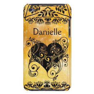 Personalisiertes Gold u. schwarzes Stammes- iPod Case-Mate Hüllen