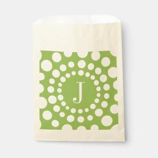 Personalisiertes Grün des Monogramm-J Geschenktütchen
