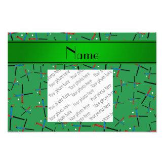 Personalisiertes grünes Feldhockeynamensmuster