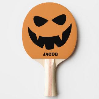 Personalisiertes Halloween-KürbisPing Pong Paddel Tischtennis Schläger