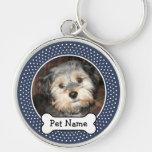 Personalisiertes Haustier-Foto mit dem Hundeknoche Schlüsselanhänger