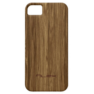 Personalisiertes helles Holz iPhone 5 Hülle