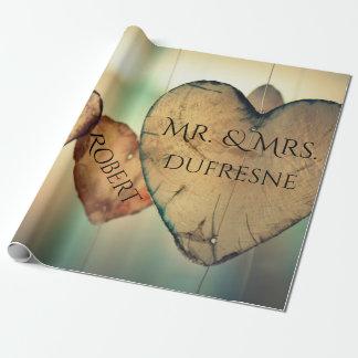 Personalisiertes Herzen Wedding/Jahrestag Geschenkpapier