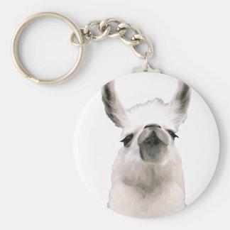 Personalisiertes hochnäsiges Snobby Lama Schlüsselanhänger