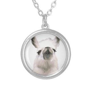 Personalisiertes hochnäsiges Snobby Lama Versilberte Kette