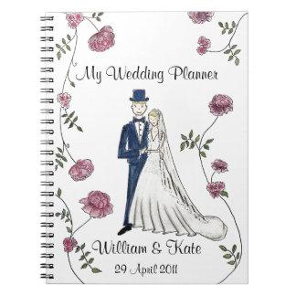 Personalisiertes Hochzeits-Planer-Notizbuch Notizbücher