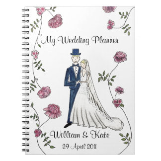 Personalisiertes Hochzeits-Planer-Notizbuch Spiral Notizblock