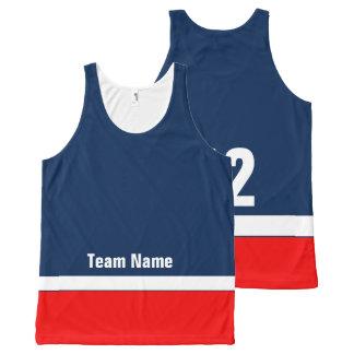 Personalisiertes Hockey-Team färbt Behälter-Spitze Komplett Bedrucktes Tanktop