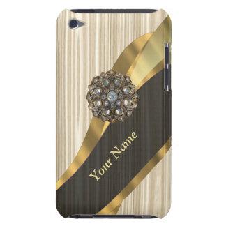 Personalisiertes hübsches Imitat hölzern Barely There iPod Hüllen