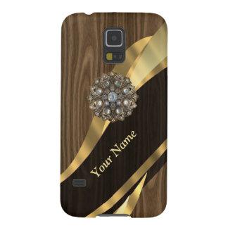 Personalisiertes hübsches Imitat hölzern Galaxy S5 Cover