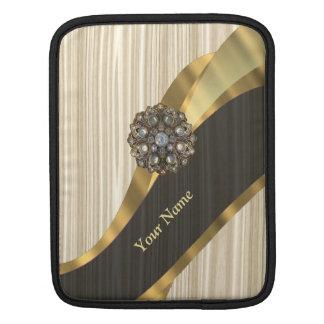 Personalisiertes hübsches Imitat hölzern iPad Sleeve