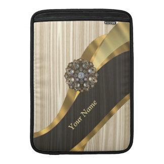 Personalisiertes hübsches Imitat hölzern MacBook Sleeve