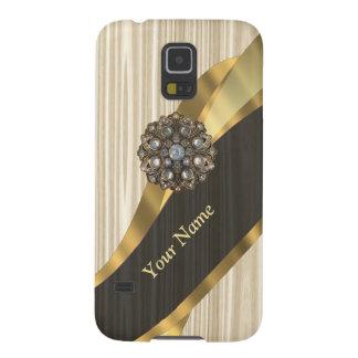 Personalisiertes hübsches Imitat hölzern Samsung Galaxy S5 Cover