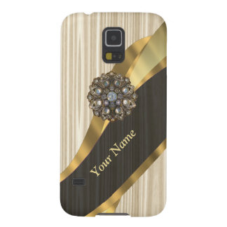 Personalisiertes hübsches Imitat hölzern Samsung Galaxy S5 Hülle