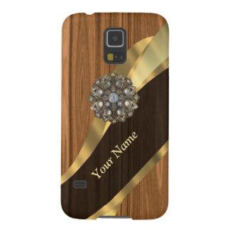 Personalisiertes hübsches ImitatKiefernholz Samsung S5 Cover