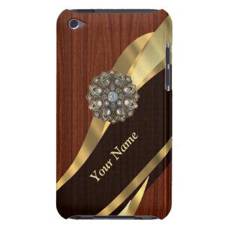 Personalisiertes hübsches Imitatkirschholz iPod Touch Case-Mate Hülle