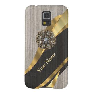 Personalisiertes hübsches modernes Imitat hölzern Hülle Fürs Galaxy S5