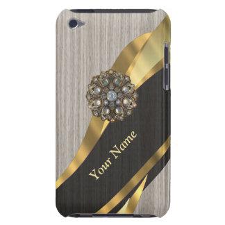 Personalisiertes hübsches modernes Imitat hölzern iPod Case-Mate Case