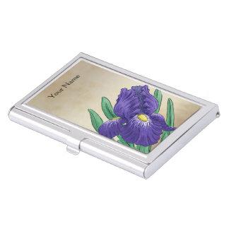 Personalisiertes I für Iris-Blumen-Monogramm Visitenkarten Etui