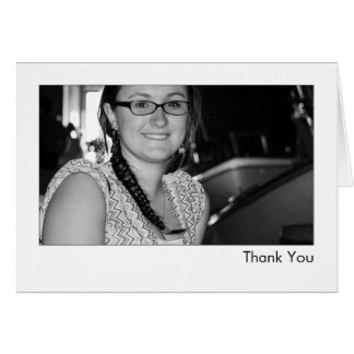 Personalisiertes Interview-Foto danken Ihnen Karte