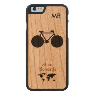 personalisiertes iPhone 6 mit schwarzem Fahrrad Carved® iPhone 6 Hülle Kirsche