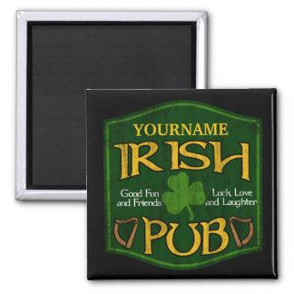 Personalisiertes irisches Pub-Zeichen Magnete