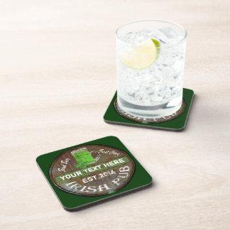 Personalisiertes irisches Pubzeichen Getränk Untersetzer