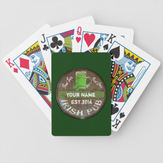 Personalisiertes irisches Pubzeichen Pokerkarten