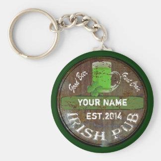 Personalisiertes irisches Pubzeichen Standard Runder Schlüsselanhänger