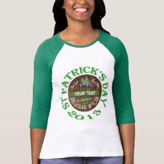 Personalisiertes irisches Pubzeichen T-Shirt