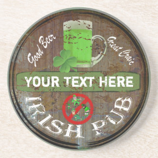 Personalisiertes irisches Pubzeichen Getränke Untersetzer
