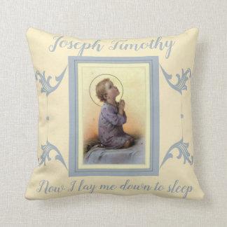 Personalisiertes Jungen-Kind Jesus, der auf seinem Kissen