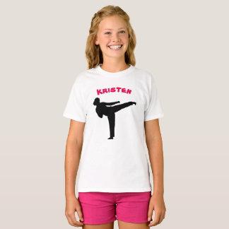 Personalisiertes Karate-Mädchen-Shirt T-Shirt