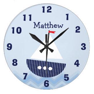 Personalisiertes Kinderzimmer-Seewand-Uhr Uhren