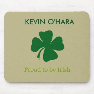 Personalisiertes Kleeblatt stolz, irische Mousepad
