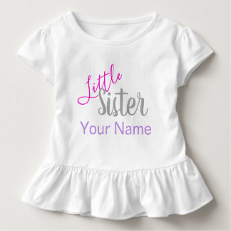 Personalisiertes kleine Schwester-Shirt Kleinkind T-shirt