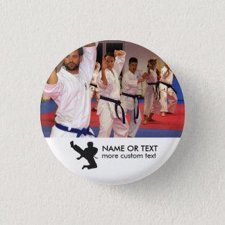Personalisiertes Kriegskunst-Karate-Foto u. Name Runder Button 3,2 Cm