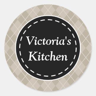 Personalisiertes Küchen-Geschenk etikettiert Runder Aufkleber